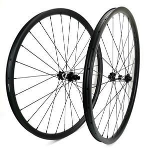 29er Mountain Bikes Carbon Felgen 30mm Breite 24mm Tubeless MTB XC Carbon Laufradsatz mit UD-Mattlack-DT-Nabe