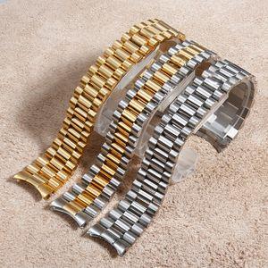 20 millimetri Presidente giubileo Fits Bracciale cinturino in acciaio inossidabile Rolex d'oro