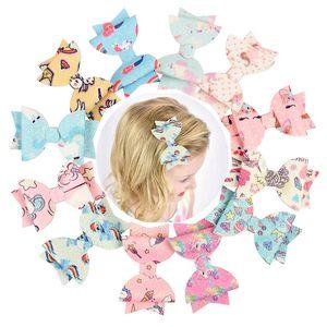 3 '' Glitter Leather Hair Bows encantadora de dibujos animados pinzas para el cabello para la princesa niñas hechos a mano Hairgrips accesorios para el cabello