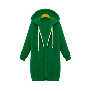 Foreign Trade Cross-Border Hot-Selling European and American Autumn and Winter Womens Long Hooded Long-Sleeved Sweater Womens Winter Coat