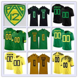 O jérsei de futebol feito sob encomenda da faculdade dos patos de Oregon todo o número do número costurou a camisola do NCAA de Mariota Herbert Aidan Schneider Kani Benoit 2019