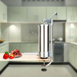 3L Manual Sausage Stuffer Maker Meat Filler Machine Commercial Stainless Steel