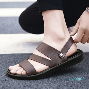 UYOYU Hot Sale New Fashion Summer Leisure Beach Men Shoes High Quality Leather Sandals The Big Yards Men Sandals Size 38-48 z02