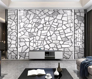 3d Wallpaper Nordic minimalist cement brick ceramic tile terrazzo floor tile wall wallpaper