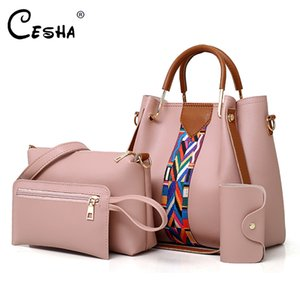 PU мода Tote женская сумка повседневное качество 4шт / лота красивая кожаная сумка женский стиль прочный высокий мешок композитный cesha eqbpk