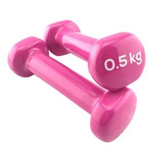 1pcs Dumbbells Início Homens e Mulheres Crianças Praticar Arm Muscle Fitness Equipment borracha coberta Dumbbell Exercise