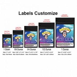 Dabheads 사용자 정의 모든 종류의 크기 냄새 증명 가방 물 증거 PVC 스티커 플라스틱 미니 사용자 정의 로고 가방 스티커