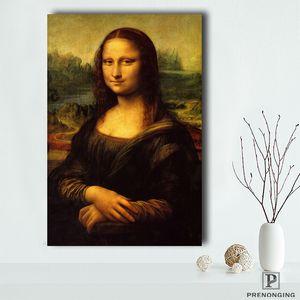 Poster en toile Tissu en soie Nouveau style La Joconde Poster Leonardo Da Vinci peinture # 190114s02