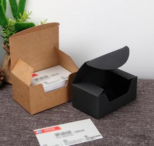 93 * 57 * 44mm وجودة عالية الأسود كرتون كرافت ورقة علبة هدية بطاقة الأعمال تغليف صندوق شحن مجاني XD22666