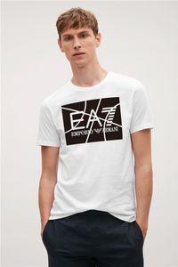 T-shirt de nouveaux hommes courtarmani Salles de sport Fitness Workout t-shirt Homme Summer Casual Mode Slim Tee Hauts vêtements de marque