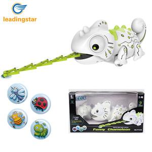 RCtown remoto camaleón de control inteligente de 2,4 GHz para mascotas Robot de juguete para niños Kids Regalo de cumpleaños divertido juguete RC Animales MX200414