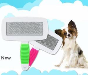 Arrojando manejar los Mascotas cepillo de pelo piel preparación del condensador de ajuste del peine del impermeable para mascotas cepillo baratos Productos para Mascotas Accesorios para perros ZZA282