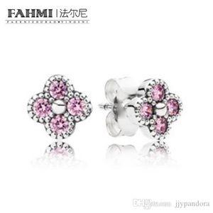 FAMHI 100% 925 стерлингового серебра 1: 1 Аутентичные Классический 290647PCZ Изысканный Свадебные серьги ювелирные изделия