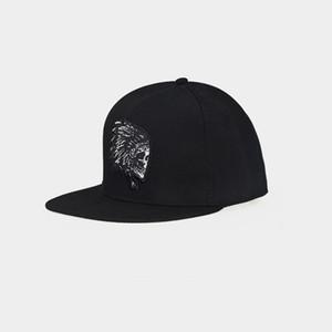 Açık erkekler şapkaları Avrupa ve Amerikan düz hip hop şapka karikatür hayalet kafa nakış kadın beyzbol şapkası