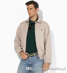 2018 Moda Marka Casual Polos Ceket Erkekler Açık Mont Veste Homme Küçük At Jaqueta Hombre Casaco Ücretsiz Kargo