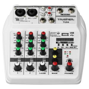Портативный мини-цифровой аудио интерфейс Белый Mixer Console с USB Bluetooth для Home Studio PC Компьютер Ноутбук DJ оборудование