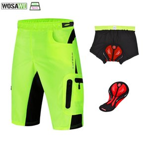 WOSAWE Men's 3D gel Padded Cycling Shorts Outdoor Sports Bike Ropa MTB Shorts Breathable Bicycle Bicicleta Ciclismo