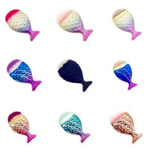 Mermaid Make-up Pinsel Puder Kontur Fischschuppen Mermaidsalon Foundation Brush Gesichtspinsel für Beauty Cosmetics RRA1973