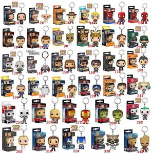Funko POP Marvel Super Hero Harley Quinn Deadpool Harry Potter Goku Spiderman Joker Game of Thrones Figurines figurines Toy Trousseau