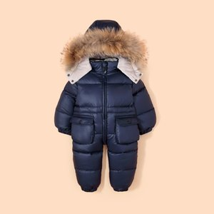 Baby Jacket 90% Duck Down-30 Russian Winter Snowsuit Clothes For Boys girls Kids Jumpsuit infant thicken Waterproof snowsuits