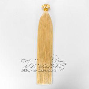 Top Quality Straight Natural 613 blond Keratin Fusion Pre Bonded Virgin Free Ship Flat Tip Human Hair Extension