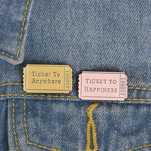 Штыри броши дизайна билета в кино сплава металла для украшения одежды трудный Штырь отворотом эмали
