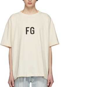 19ss FEAR IF GOD FB Drucken Aprikose Kurzarm Mode Lässig High Street T Männer Und Frauen Paare INSIDE OUT T-shirt HFSSTX115