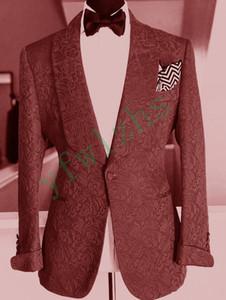 Newest One Button Groomsmen Shawl Lapel Wedding Groom Tuxedos Men Suits Wedding Prom Dinner Best Man Blazer(Jacket+Tie+Pants) T09