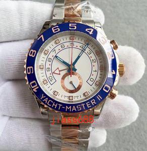 Luxo Mens Relógios YACHT MASTER Alta Qualidade 2813 Movimento Automático de Aço Inoxidável Relógios Mecânicos Relógios De Pulso