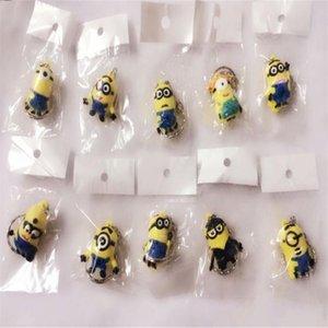 Heißer Verkaufs-3D Despicable Me Minion Action-Figur Schlüsselanhänger Keyring Schlüsselanhänger Netter Mix Auftrag D0630