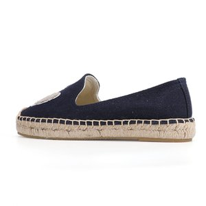Women's Shoes Espadrille Platform Flat Fishermen 2019 Sapatos Lady Casual Rubber Outsole Off-duty Days Flax Straw Thick Soled