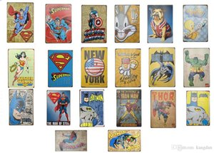 23 Styles Marvel Film Super Heroes Vintage Home Decor Tin Sign Bar Pub Decorative Metal Sign Retro Metal Plate Painting Metal Plaque