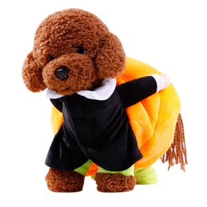 Halloween Funny Clown Dog Cat Carry Pumpkin Costumes Kitten Puppy Cosplay Party Halloween Costumes Pet Cosplay Decor
