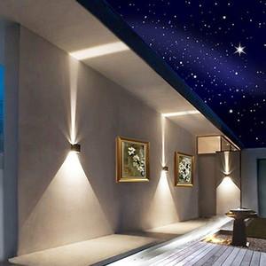 거실을위한 LED 벽 빛 COB 광원 9W 220V 4000K 위, 아래 조명 북유럽 미니멀 창조적 인 실내 벽 램프