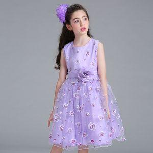 Blumenjungenhochzeitskleidkleidrockmädchendruckprinzessin Peng Peng Rockkindkleid