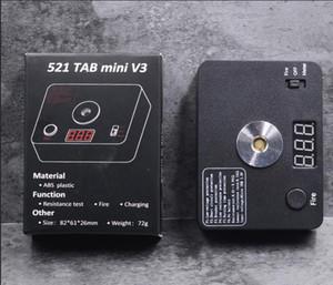 521 TAB Mini V3 Ohmímetro carga de bobinas herramienta de bricolaje para la RDA RTA atomizador Calefacción Tabla de cables USB Resistencia Digital Ohm probador de fuego