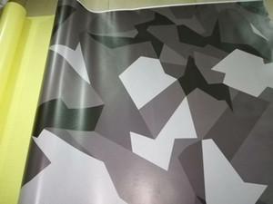 Nero bianco grigio Pixel Camouflage Vinile avvolgente per veicolo auto avvolgente Graphic Camo Truck Wrap copertura adesivi per auto 1.52x30m 5x98ft