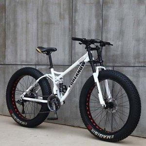 26 pulgadas de velocidad variable de 21 velocidades fuera de la carretera de la playa súper moto de nieve adulta amplia bicicleta de montaña de neumáticos 4.0 grande