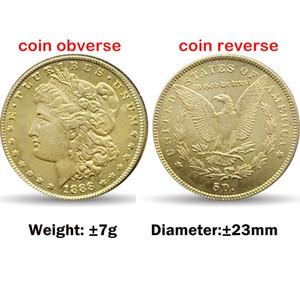 Americano cópia moedas decoração liberdade Morgan 10pcs 23 milímetros moedas de ouro arte artesanato