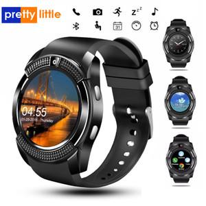 V8 relógio inteligente Bluetooth relógios com 0.3M Camera SIM IPS HD Full Circle exibição Smartwatch Para Android Sistema Com Box