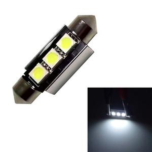 1 PCS 36mm 39mm C5W 3SMD 3 SMD 5050 CONDUZIU NO CANBUS Erro Festoon Bulbo Car License Plate Luz Auto Habitação Interior Dome Lamp 12 V