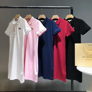 Designer T Shirts Dress For Women Brand Dress Short Sleeves Polo Dress Shirts Summer Girl Designer Tees Skirt Free Shipping Shirts 20031806L