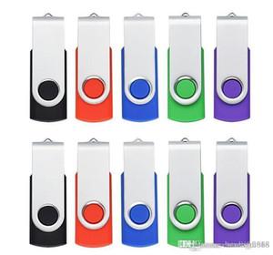 HK en vrac 10PCS / LOT Metal Drive Rotating USB 2.0 Flash Pen Drive Thumb Memory Stick 64M 128M 256M 512M 1G 2G 4G 8G 16G 32G pour PC portable Mac