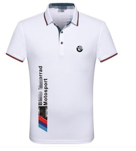 BMW Mercedes-Benz T-shirt male short-sleeved lapel super fire POLO shirt male Honda Audi overalls motorcycle locomotive 4S shop polyester qu