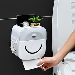 Sostenedor de la toalla impermeable montado en la pared Wc roll caso del soporte del tubo de la caja para el papel higiénico T200107