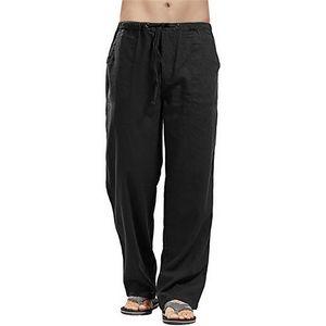 Pantaloni da uomo Pantaloni in lino con cornici per uomo Split da uomo con tuta stampata Casual Pocket Sport Lavoro Pantaloni Pantaloni Pantaloni 5xL