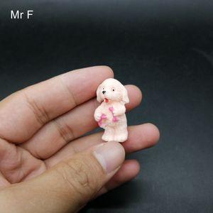 Kid Gift Mini Pink Standing Dog Simulation Animal Model Preschool Educational Toy Game Hobbies