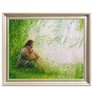 Haute Qualité Peint À La Main HD Imprimer Religieux Portrait Art Peinture À L'huile Jésus Christ Sur Toile Mur Art Home Office Deco p68