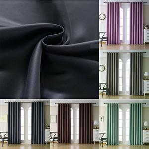 2019 1pcs New Duplas Forrado pesado Grosso Sólidos Blackout Grommet Janela cortina Painéis decoração de casa