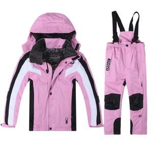 nouveaux enfants espion chaud veste de ski et d'un pantalon de ski costume garçon et fille Suit